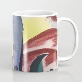 Blue Horse on a Colorful Background Coffee Mug