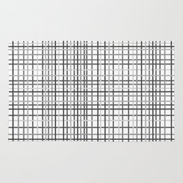 Weave Black and White Rug
