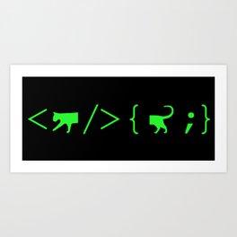 Full Stack Cat - Front End / Back End Developer Art Print