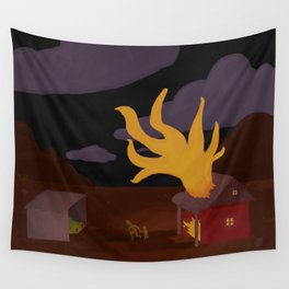 Night Fire Wall Tapestry