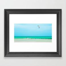 the kiter Framed Art Print