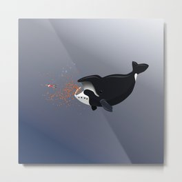 Pinocchio and the Bowhead whale Metal Print