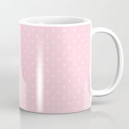 Light Soft Pastel Pink Mini Polka Dot Hearts Coffee Mug