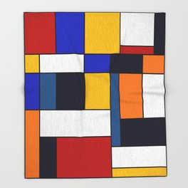 Abstract #351 Throw Blanket