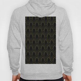 Black And Gold Foil Art-Deco Pattern Hoody