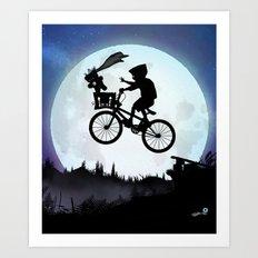 E.T Kid Art Print