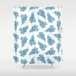Watercolor Ocean Life VI Shower Curtain