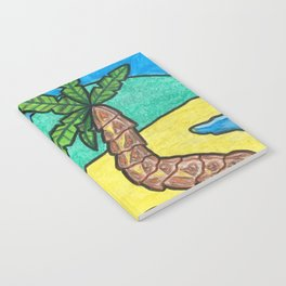 Tropical Beach Notebook