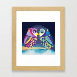 Shanti Sparrow: Bill & Judy the Owls Framed Art Print