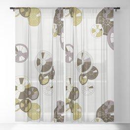 Wagon Wheels Sheer Curtain