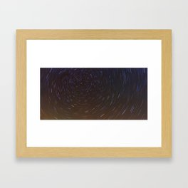 Stars trails Framed Art Print