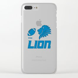 True Lion American Football Design black lettering Clear iPhone Case