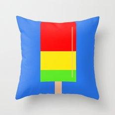 Popsicle fun art Throw Pillow