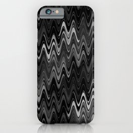 WAVY #2 (Black & Grays) iPhone Case