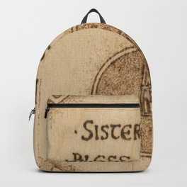 Brigid's Cross Blessing Woodburned Plaque Backpack