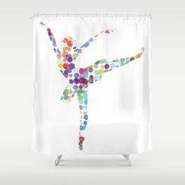 Confetti Ballerina Shower Curtain