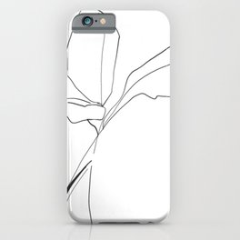 Minimal Line Drawing Birds of Paradise iPhone Case