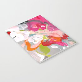 Dream flowers in pink rose floral abstract art Notebook