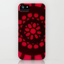 Spin the Wheel Red iPhone Case
