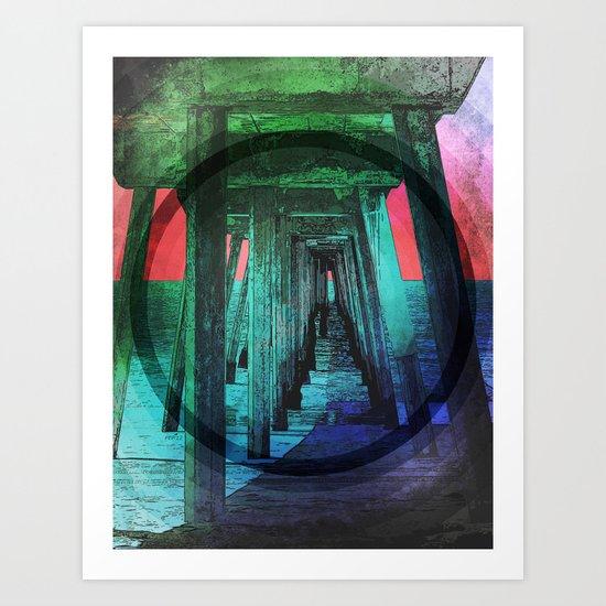 Shade Under Pacific Pier Art Print