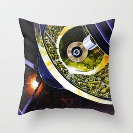 Inside the Bernal Sphere Throw Pillow