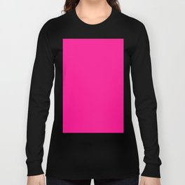 Deep Pink Long Sleeve T-shirt