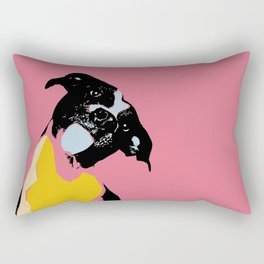 Expressive dog portrait modern art print Rectangular Pillow