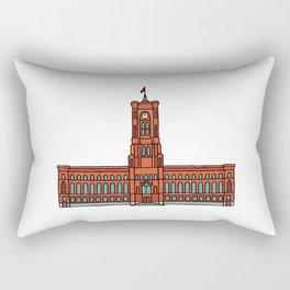 Red City Hall Berlin Rectangular Pillow