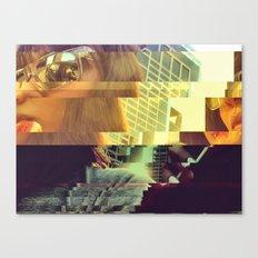 Glitch Pop Canvas Print