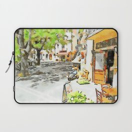 Tortora: glimpse with bar table and scooter Laptop Sleeve