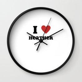 I Love Heather Wall Clock