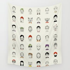 The Characters of W Wall Tapestry