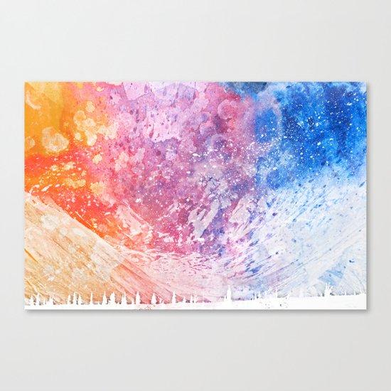 Abstract Acrylic Mountain Canvas Print