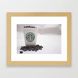 Starbucks Coffee Beans Framed Art Print