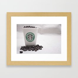 Starbucks Coffee Beans Framed Art Print