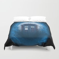 Through the Time Stream Duvet Cover