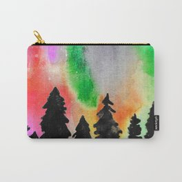 Northern Lights In The Sky - Green and Red Palette Carry-All Pouch