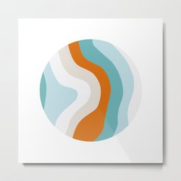 moab, teal & orange Metal Print