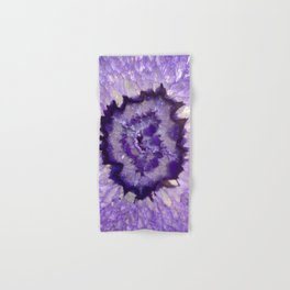 Purple Crystal Hand & Bath Towel