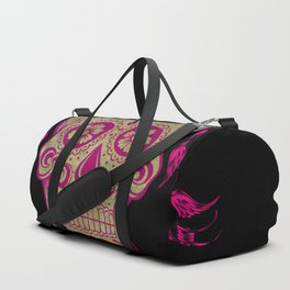 Sugar Skull Green and Pink Duffle Bag