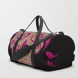 Sugar Skull Green and Pink Duffle Bag