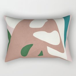 Abstract Minimal Shapes Rectangular Pillow