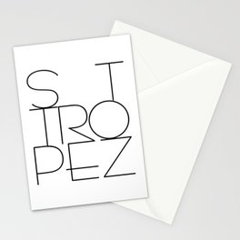 St. Tropez, jetset holidayplace in the South of France at the Mediterranean Stationery Cards
