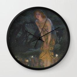 MIDSUMMER EVE - EDWARD HUGHES  Wall Clock