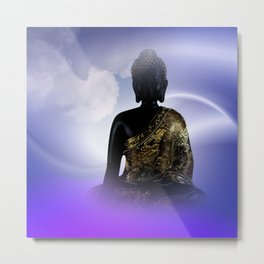 meditation, silence and peace Metal Print