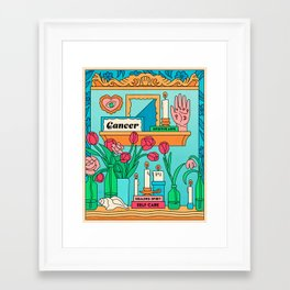 Cancer Country Jewel Framed Art Print