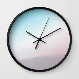 Modern Abstract Pink Blue Wall Clock