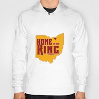 lebron Hoodies featuring Home of the King (Red) by Denise Zavagno