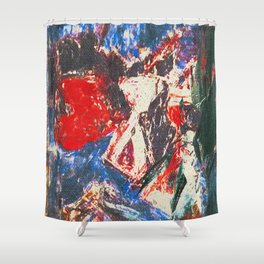女性着物着て (woman wearing kimono) Shower Curtain