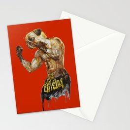 Pug Muay Thai Stationery Cards